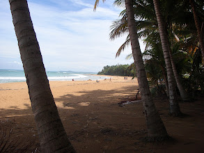 Photo: lovely little beach at Luquillo