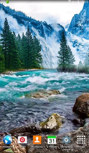 Stormy Mountain River LWP скачать на планшет Андроид