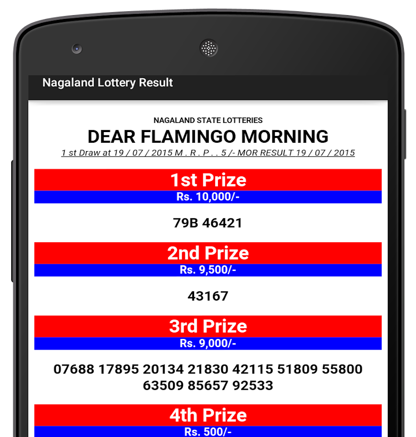 Nagaland Lottery Results- screenshot