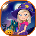Halloween Doll House Games 3D icon