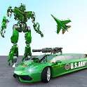 Flying Limo Car Robot: Flying Car Transformation icon