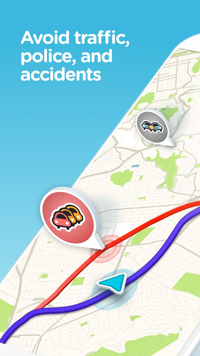 Waze - GPS, Maps, Traffic Alerts & Live Navigation Android 1