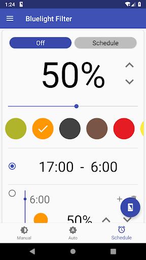 Bluelight Filter for Eye Care - Auto screen filter screenshot 3