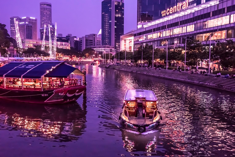 シンガポール クラーク・キー 夕景2