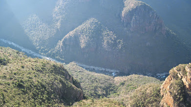 Photo: the gorge of Blyde Canyon, South Africa