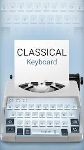 Classical White Keyboard Theme - náhled