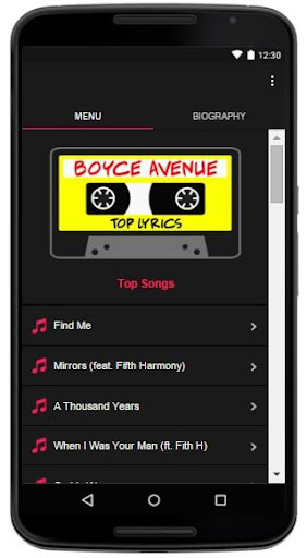 Boyce Avenue Lyrics Top