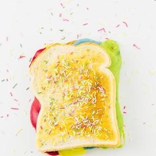 Rainbow-Colored Grilled Cheese Sandwich.