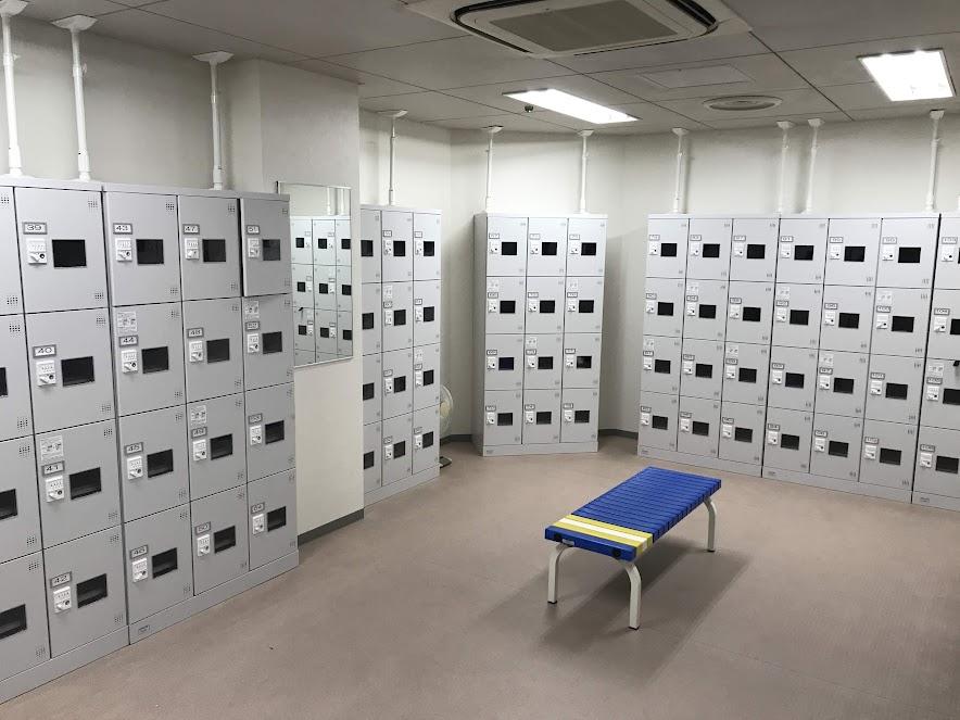 大田区民プラザ更衣室