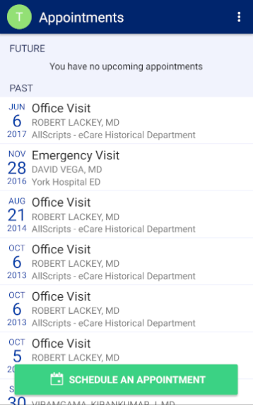 WellSpan Health- screenshot