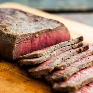 Pan-fried London Broil Steak