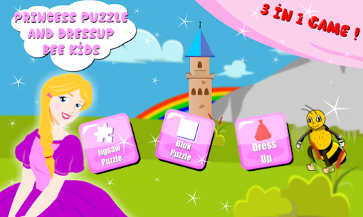 Princess Puzzle & Dressup : Little Bee Kids 5