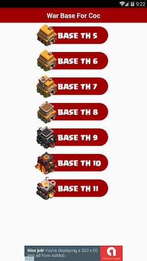 War Base For Clash of Clans 1.0 screenshots 1
