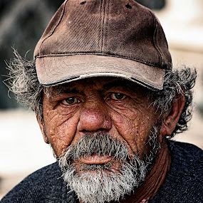 still alone by Ionel Covariuc - People Portraits of Men ( picture, homeless, poor, man, portrait )