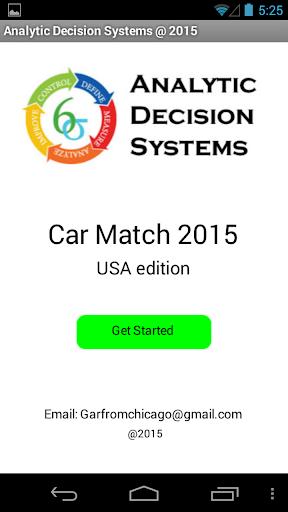 CarMatch 2015 USA Ed 10 Uses