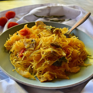 Spaghetti Squash Pasta with Mushrooms and Sage