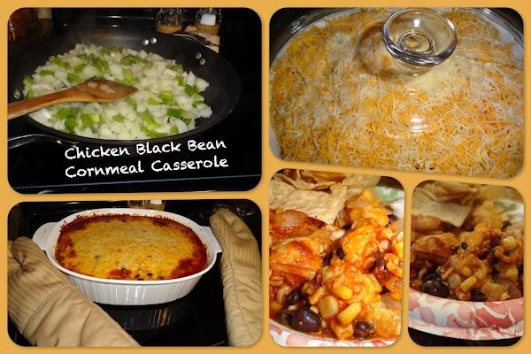 Chicken Black Bean Cornmeal Casserole Recipe