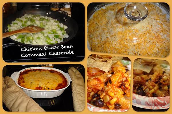 Chicken Black Bean Cornmeal Casserole Recipe