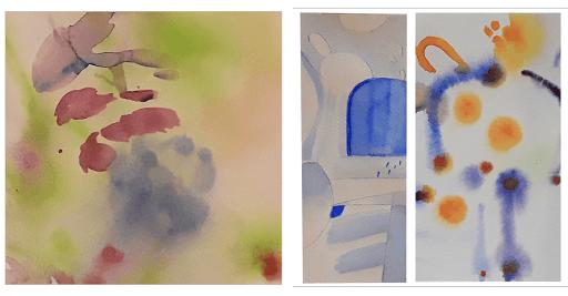 Jeanne PAPA_STAGE Vers une aquarelle abstraite _2019_ travail de AGNESE ET  Camille