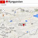 Kyrgyzstan map icon