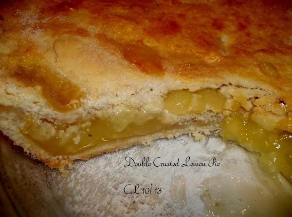 Two Crusted Lemon Pie Recipe