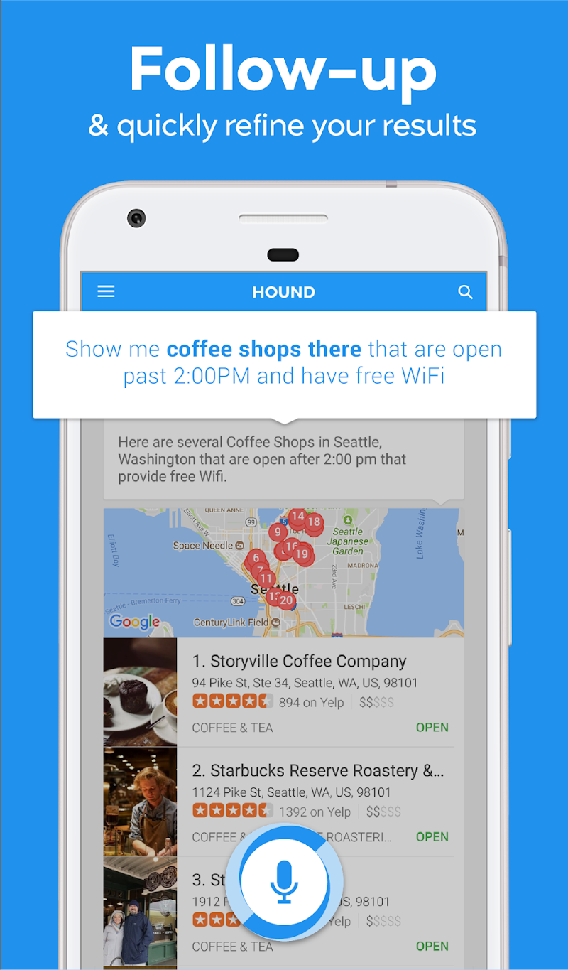 HOUND Voice Search & Mobile Assistant Screenshot 1
