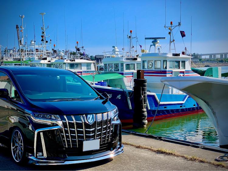 アルファード AGH30Wのナチュラルカスタム,ヌルテカ,梅雨明け,猛暑日,漁港と愛車に関するカスタム&メンテナンスの投稿画像1枚目