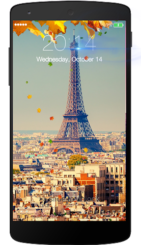 android Fall leaves Lock Screen Screenshot 4