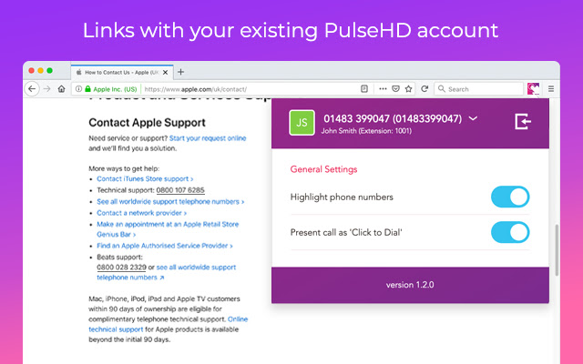 PulseHD Click to Dial