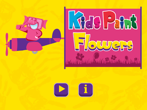 Kids Paint Flowers