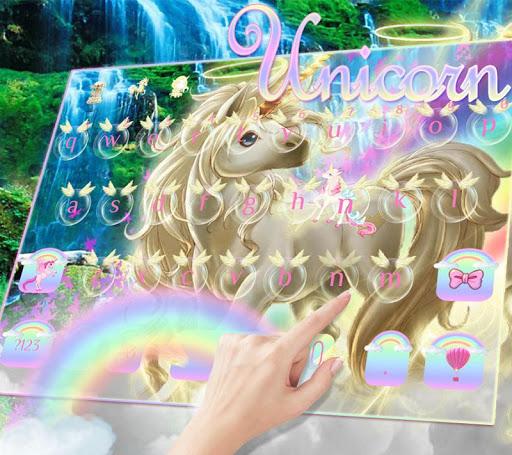 Rainbow unicorn Keyboard theme  screenshots 3