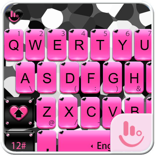 Pink Zebra Keyboard Theme