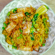 [Keto] Curry Fried Rice-Shrimp
