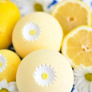DIY Lemon Bath Bomb.