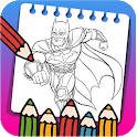 Super Hero Coloring Book for Kids New Coloring icon