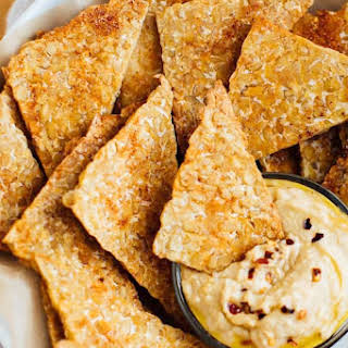 BBQ Baked Tempeh Chips.