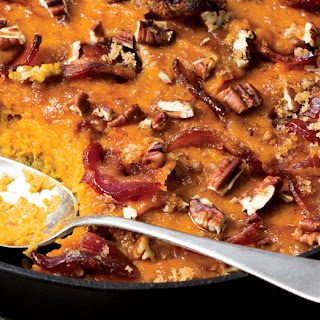 Sweet Potato Casserole with Candie Bacon Recipe