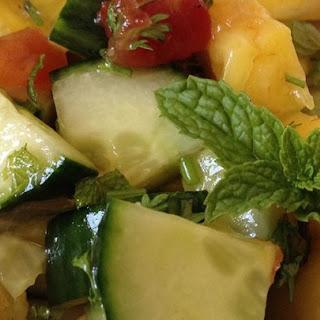 Pineapple Cucumber Salad.