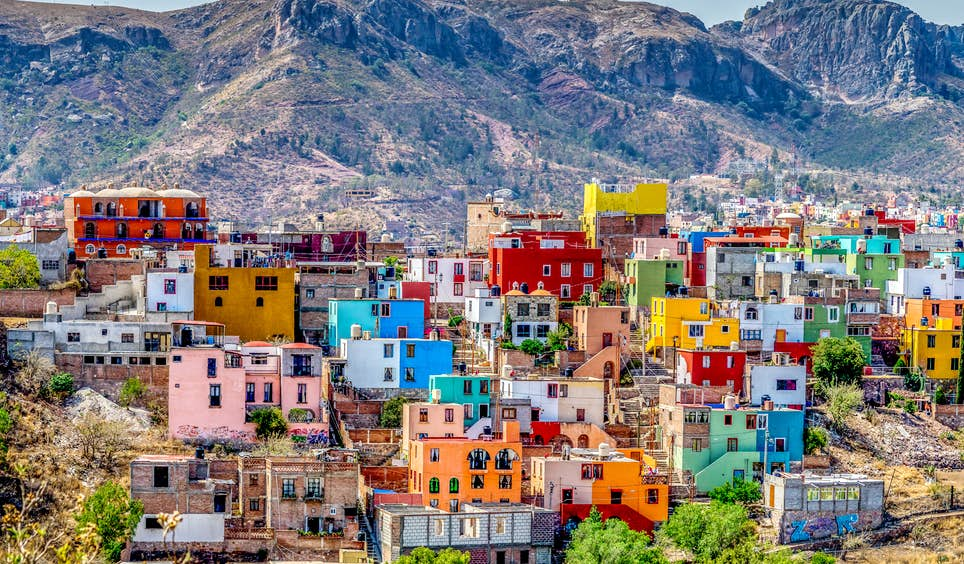 Founded as a silver-mining town by the Spanish in the 1500s, Guanajuato's colourful mountain sprawl is now a Unesco World Heritage site © Robert Powais / 500px