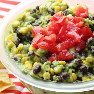 Black Bean and Corn Guacamole.