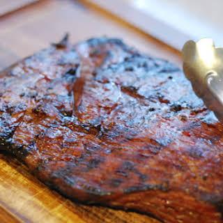 Maple Bourbon Flank Steak.