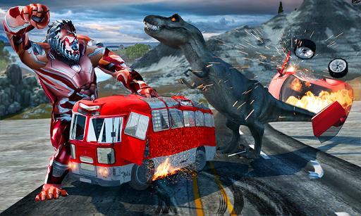 Wild Gorilla Transforming Robot: Dino Hunting Game 1.0 screenshots 3