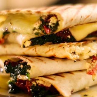 Easy Quesadilla Greek Style.