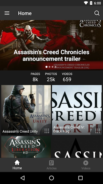 FANDOM for: Assassin's Creed Android App Screenshot