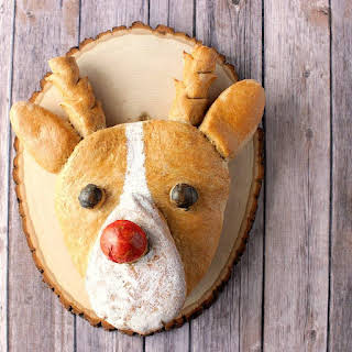 Whole Wheat Rudolph the Bread Nosed Reindeer.