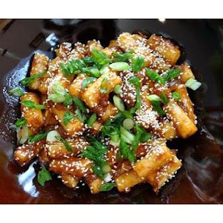 Korean Roasted Rice Cakes.