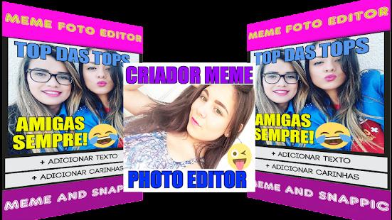 Criador de MEME Foto Editor Texto Carinhas Na Foto Screenshot