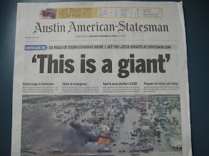 Photo: This is what we were outrunning... by order of Texas Governor Rick Perry, everyone had to evacuate the Gulf Coast.  Turned out to be a pretty good idea.