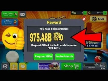 8 Ball Pool Reward Links Screenshot