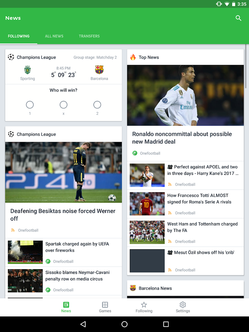 Onefootball Live Soccer Scores Screenshot 10